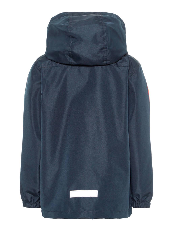 NAME IT MINI zomerjas met tekst donkerblauw, Donkerblauw