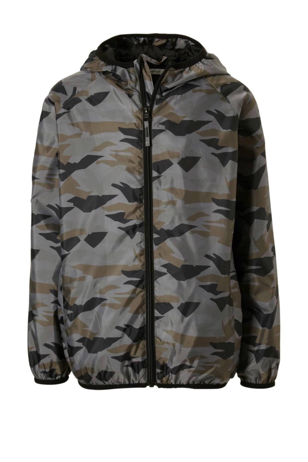 name it jas met camouflageprint, Grijs/ licht bruin