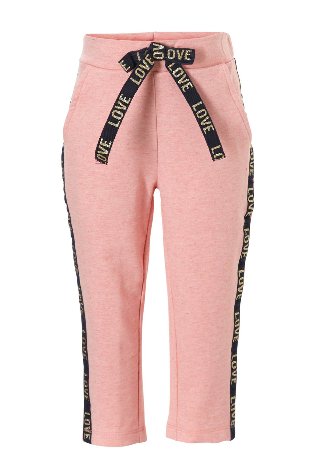 name it MINI joggingbroek met glitter, Roze/ antraciet