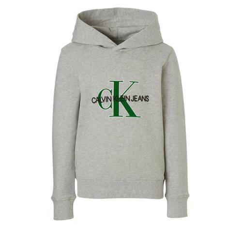 Calvin Klein Jeans hoodie met logo grijs melange kopen
