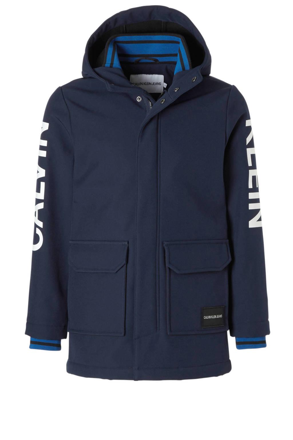 Calvin Klein Jeans softshell jas donkerblauw, Donkerblauw