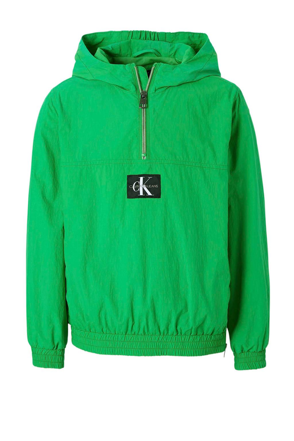 Calvin Klein Jeans anorak met capuchon groen, Groen