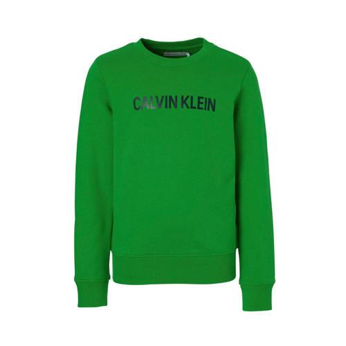 Calvin Klein Jeans sweater met logo groen kopen