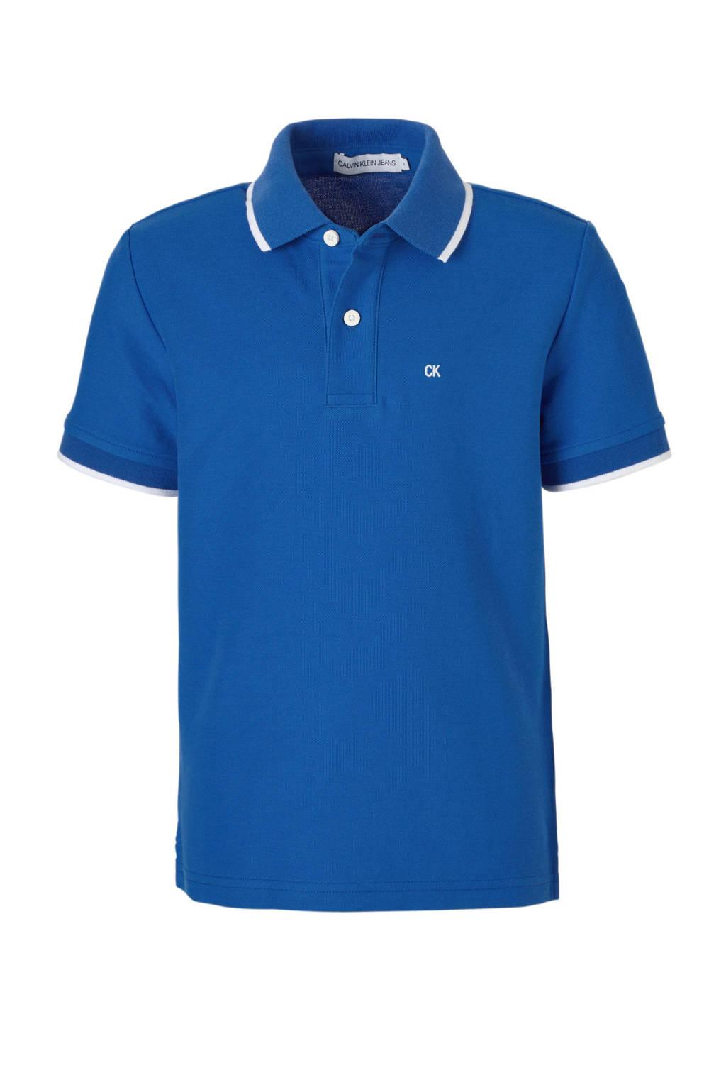 Calvin Klein Jeans polo kobaltblauw, Kobaltblauw