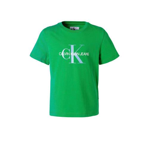 Calvin Klein Jeans T-shirt met logo groen kopen