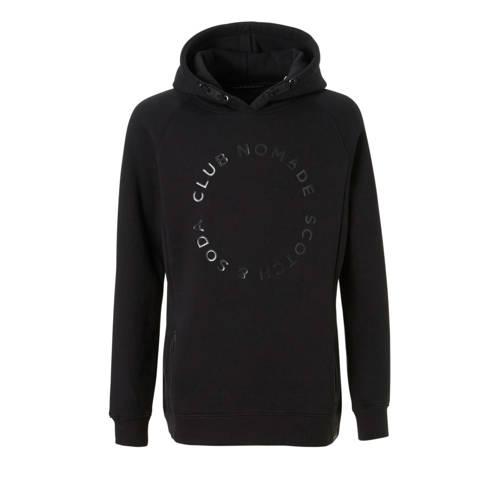 Scotch & Soda hoodie met tekst zwart kopen