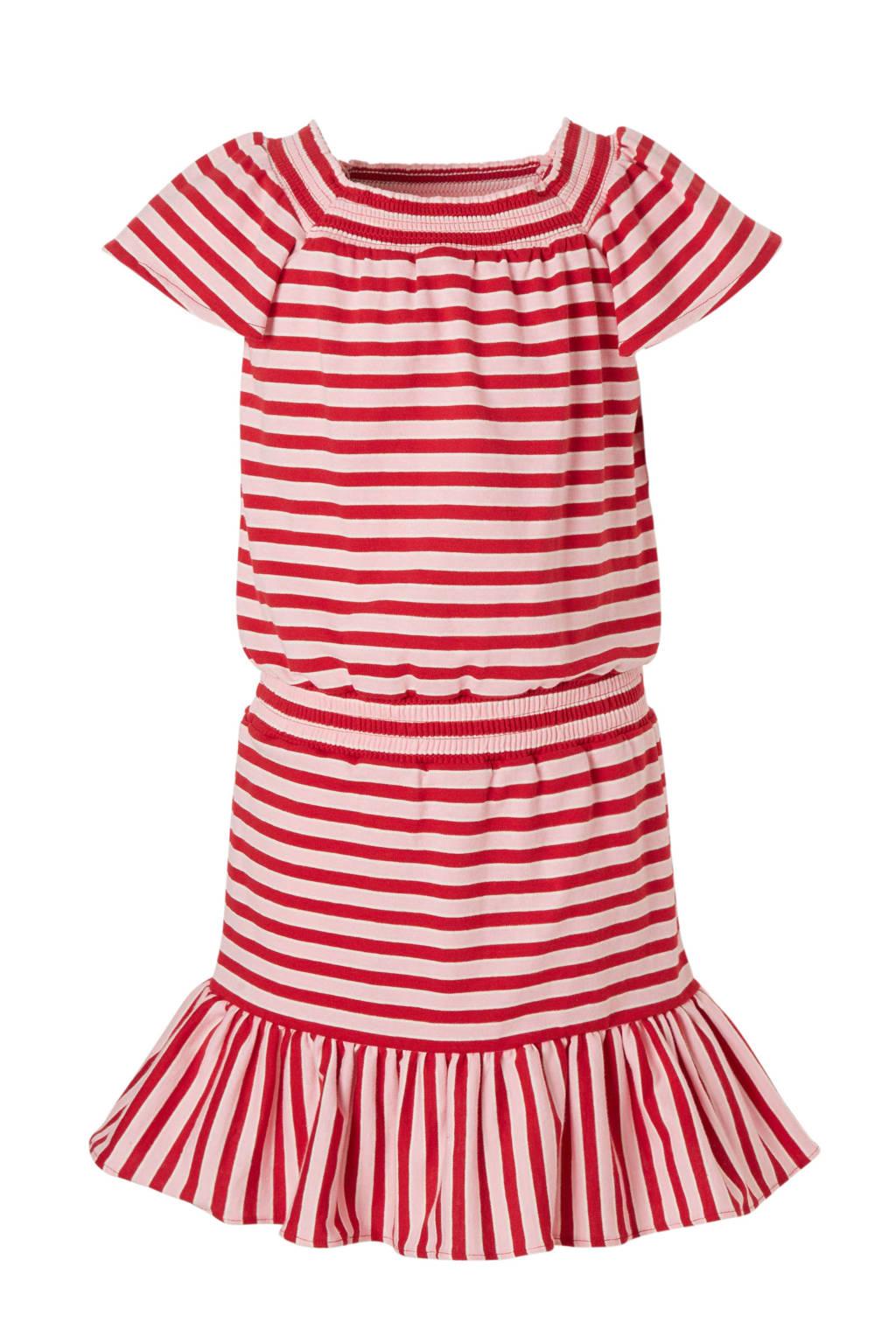 Scotch & Soda gestreepte jurk rood/wit, Rood/wit