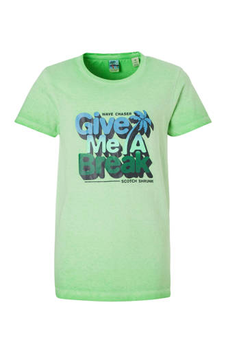 T-shirt met print groen