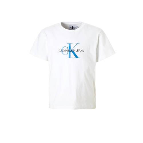 Calvin Klein Jeans T-shirt met logo wit kopen