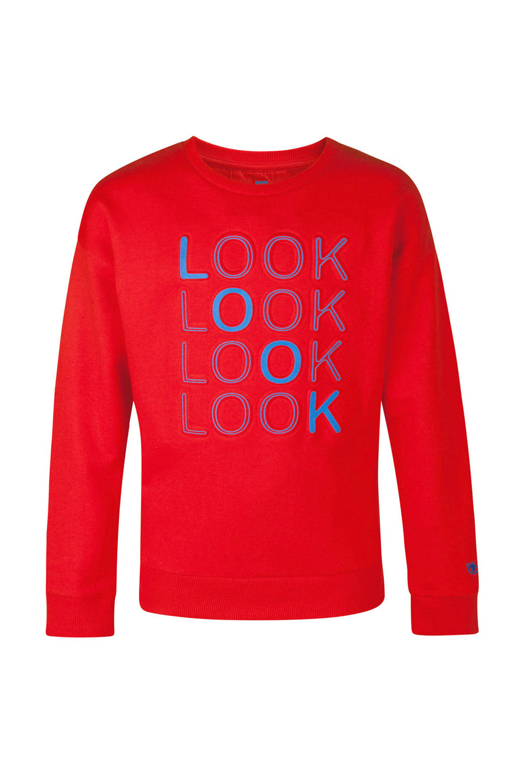 WE Fashion sweater met tekst rood, Rood
