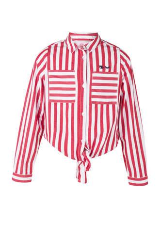 gestreepte blouse rood