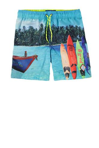 zwemshort met print blauw