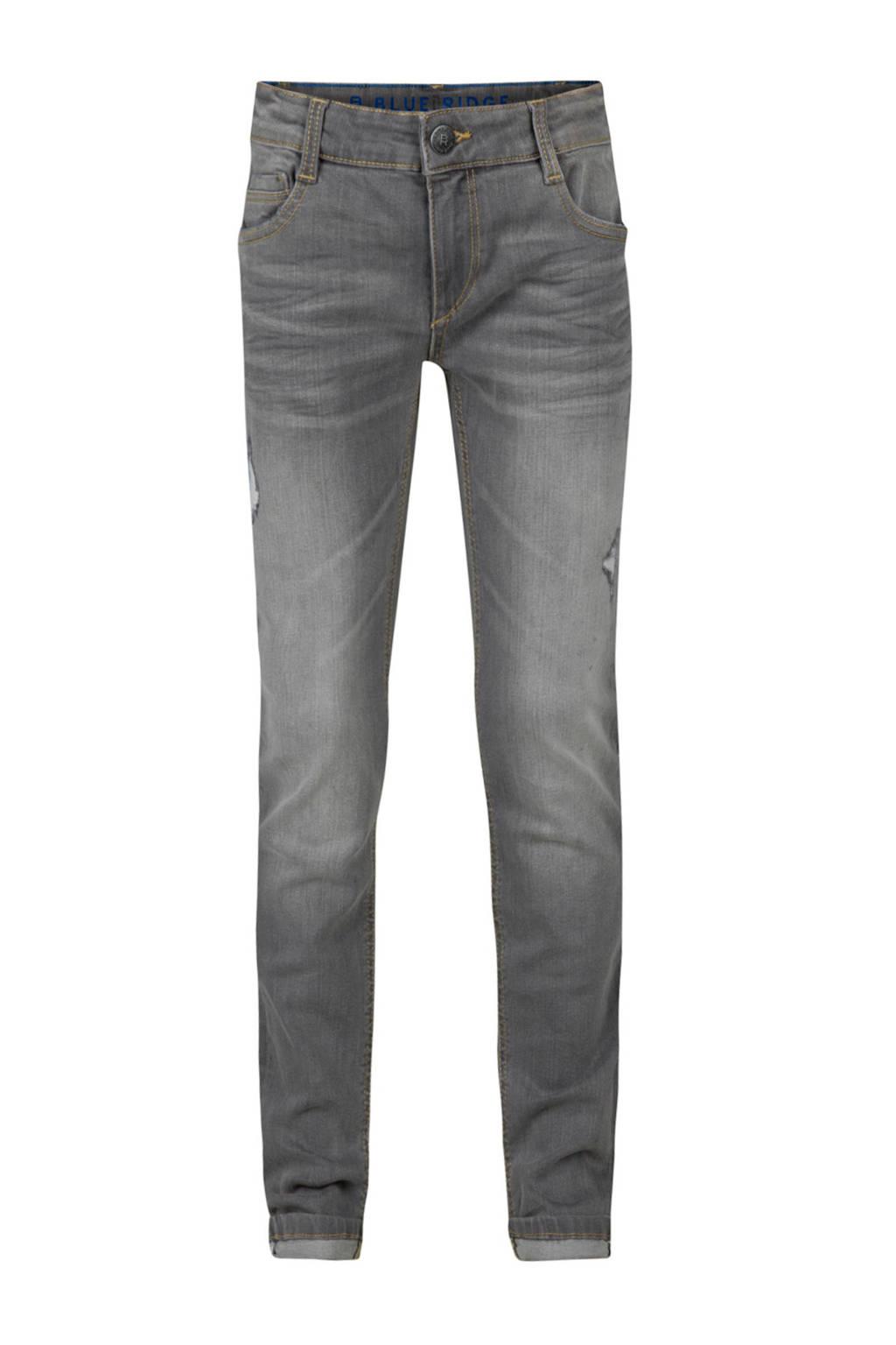 WE Fashion skinny jeans grijs, Grijs