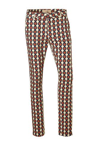 Abbey Mekko regular fit pantalon met all over print