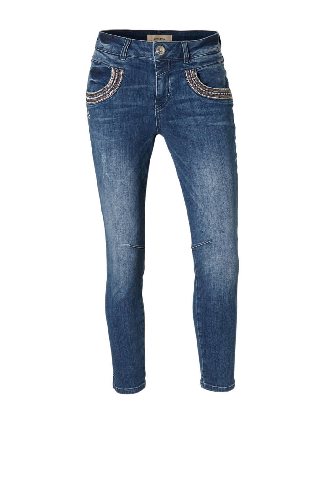 Mos Mosh Naomi Muscat slim fit jeans, Blauw