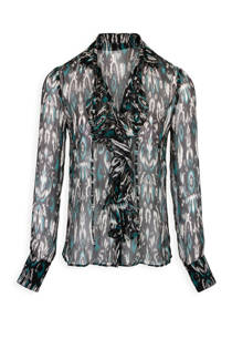 Morgan Georgia May Jagger  zijden blouse met een allover print (dames)
