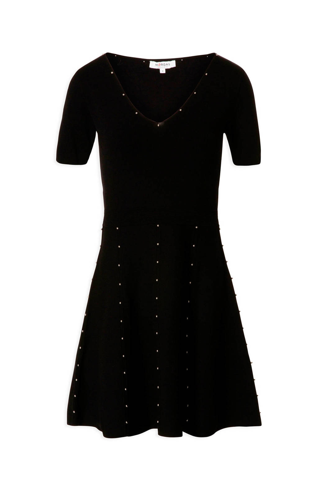 Morgan jurk Moli met kralen zwart, Zwart