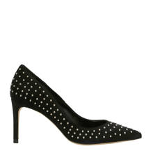 Georgia May Jagger suède pumps zwart met studs