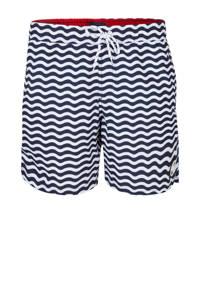 WE Fashion zwemshort in all over print blauw, Blauw/wit