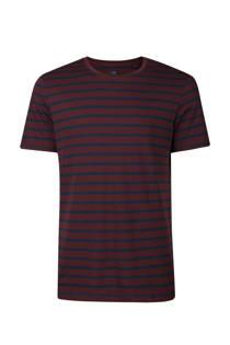 WE Fashion gestreept T-shirt bordeaux