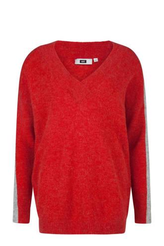 sweater met wol rood