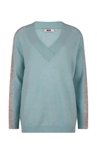 sweater met wol blauw