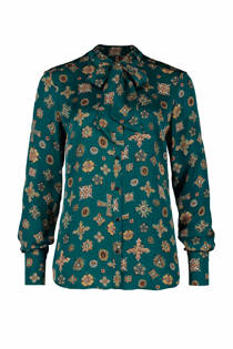 Expresso blouse Nikita groen met all over print (dames)