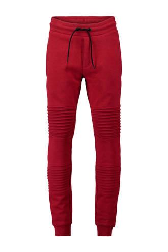 joggingbroek met all over print rood
