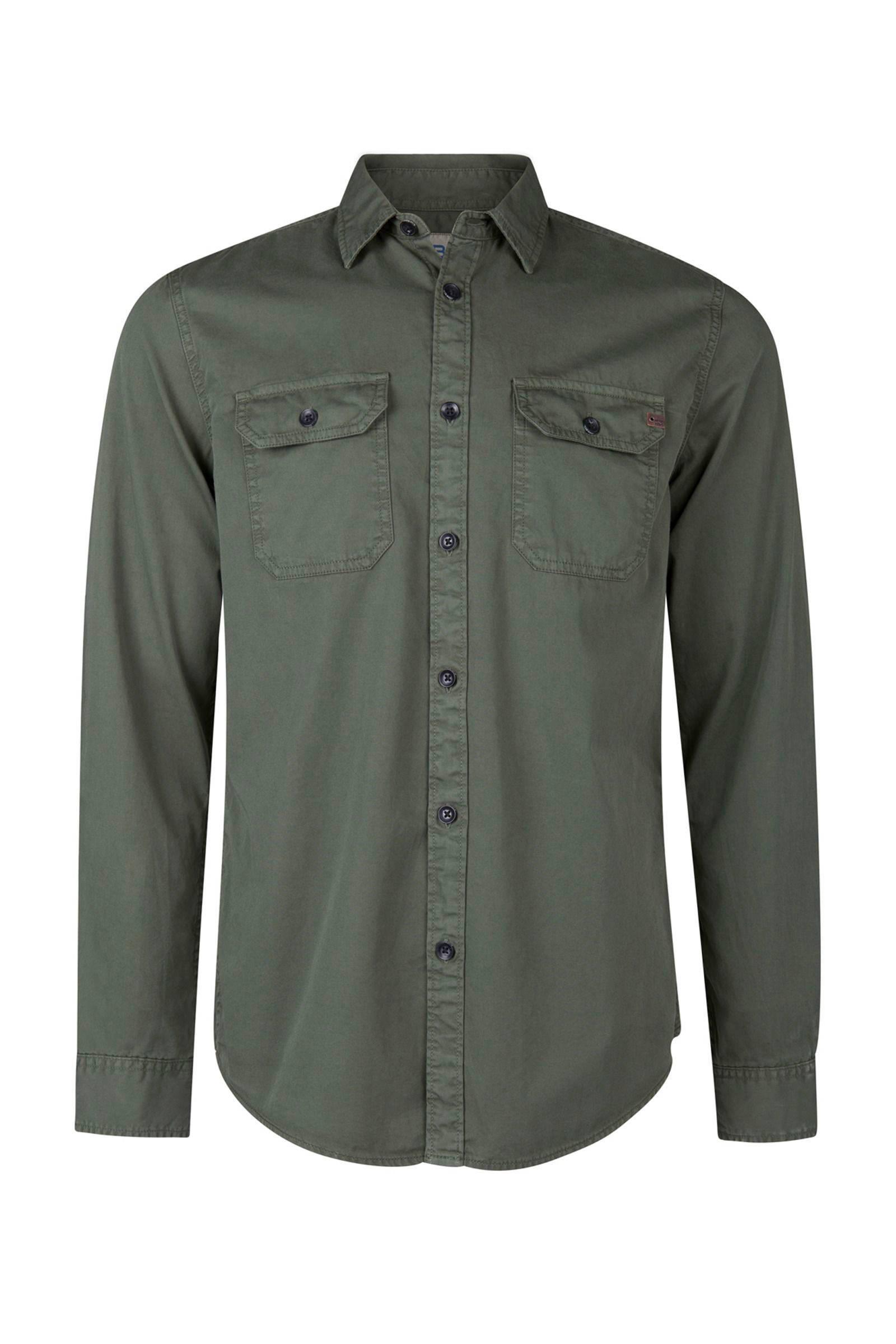 donkergroen overhemd