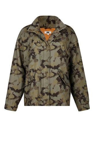 jas met camouflage print