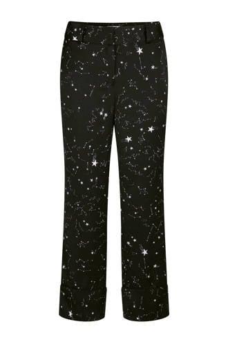 pantalon sterrenprint zwart