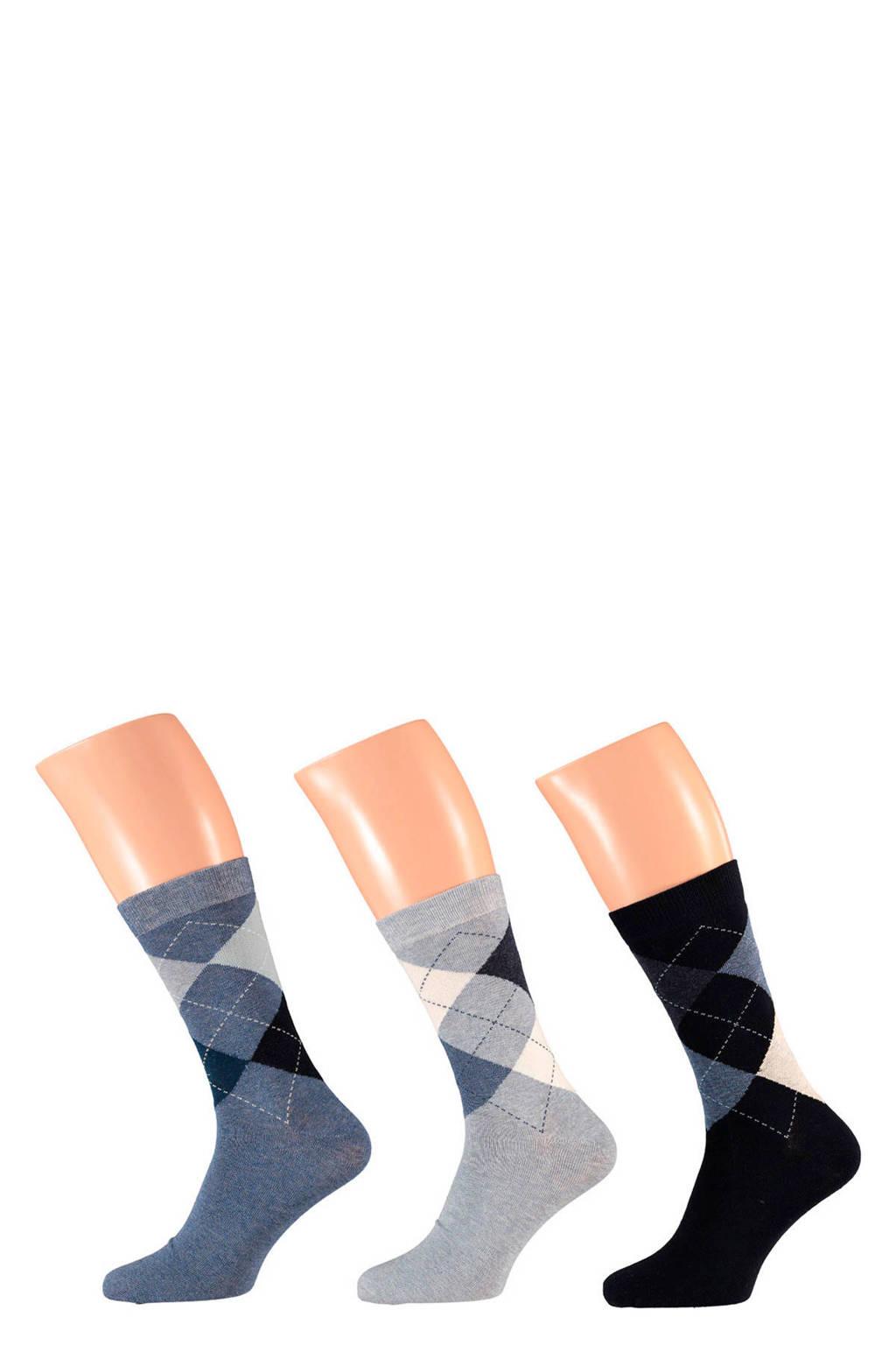 Apollo sokken (3 paar) marine, Marine