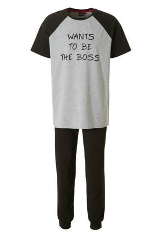 pyjama met tekstprint