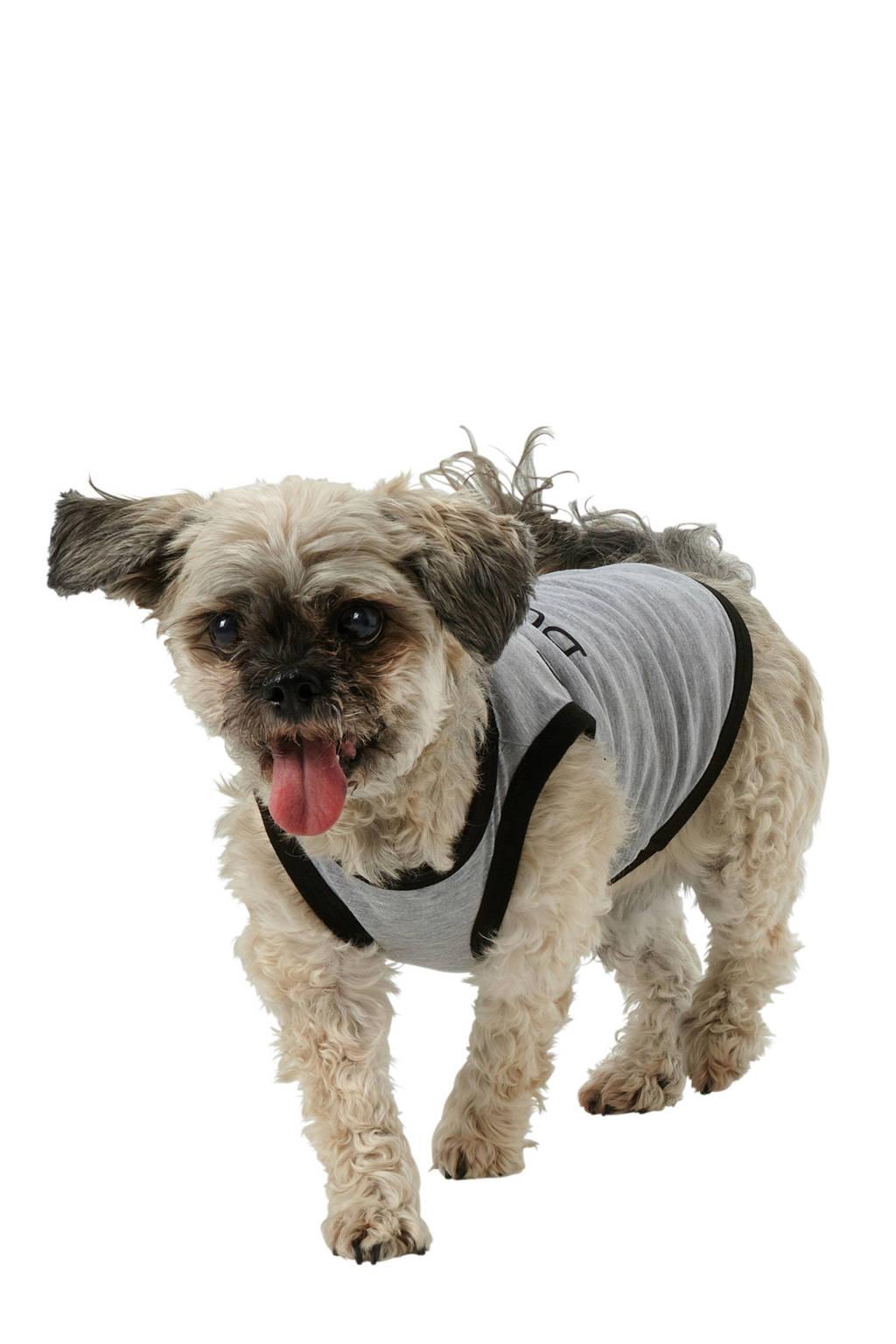 whkmp's own hond/kat pyjama met tekstprint, Grijs/zwart