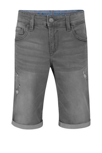Blue Ridge loose fit jeans bermuda met slijtage