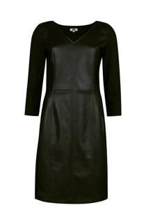 WE Fashion jurk met imitatieleer zwart