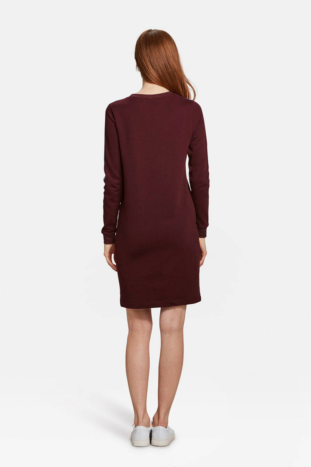 WE Fashion sweat jurk van katoenblend bordeaux, Bordeauwx