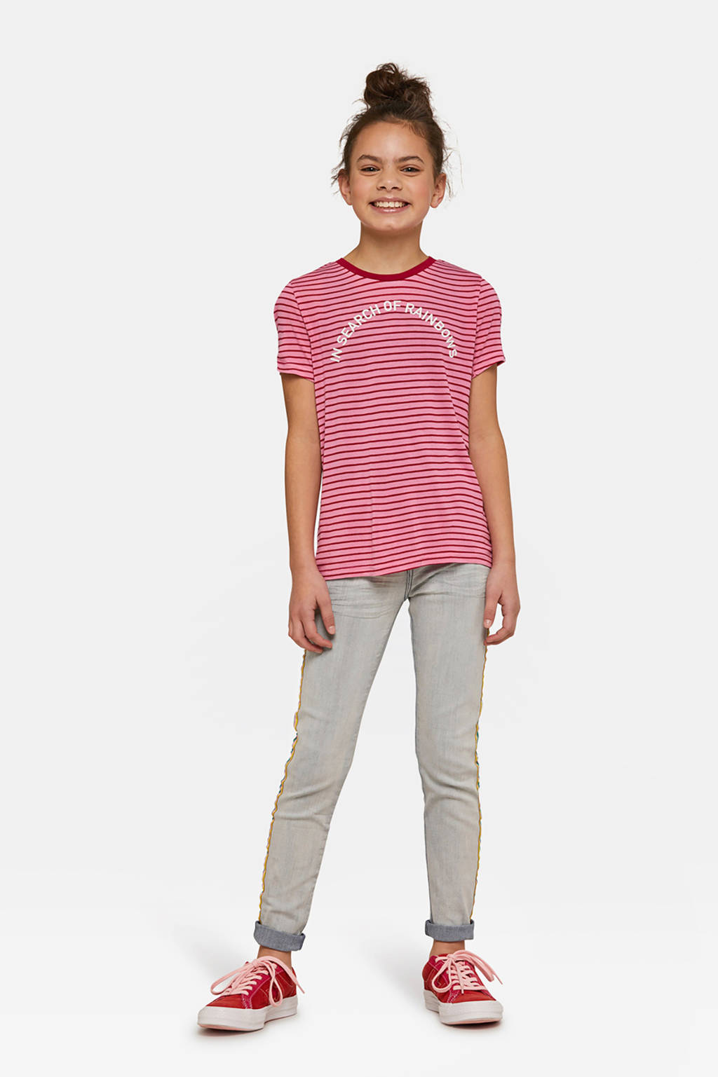 WE Fashion T-shirt met roze, Roze