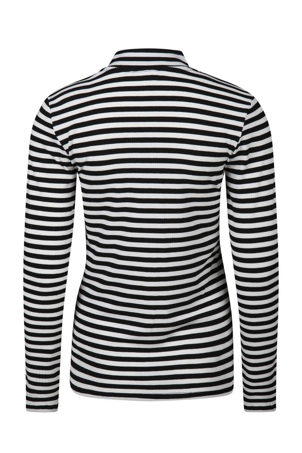 Beroemd WE Fashion gestreepte top met col zwart/wit | wehkamp #KQ78