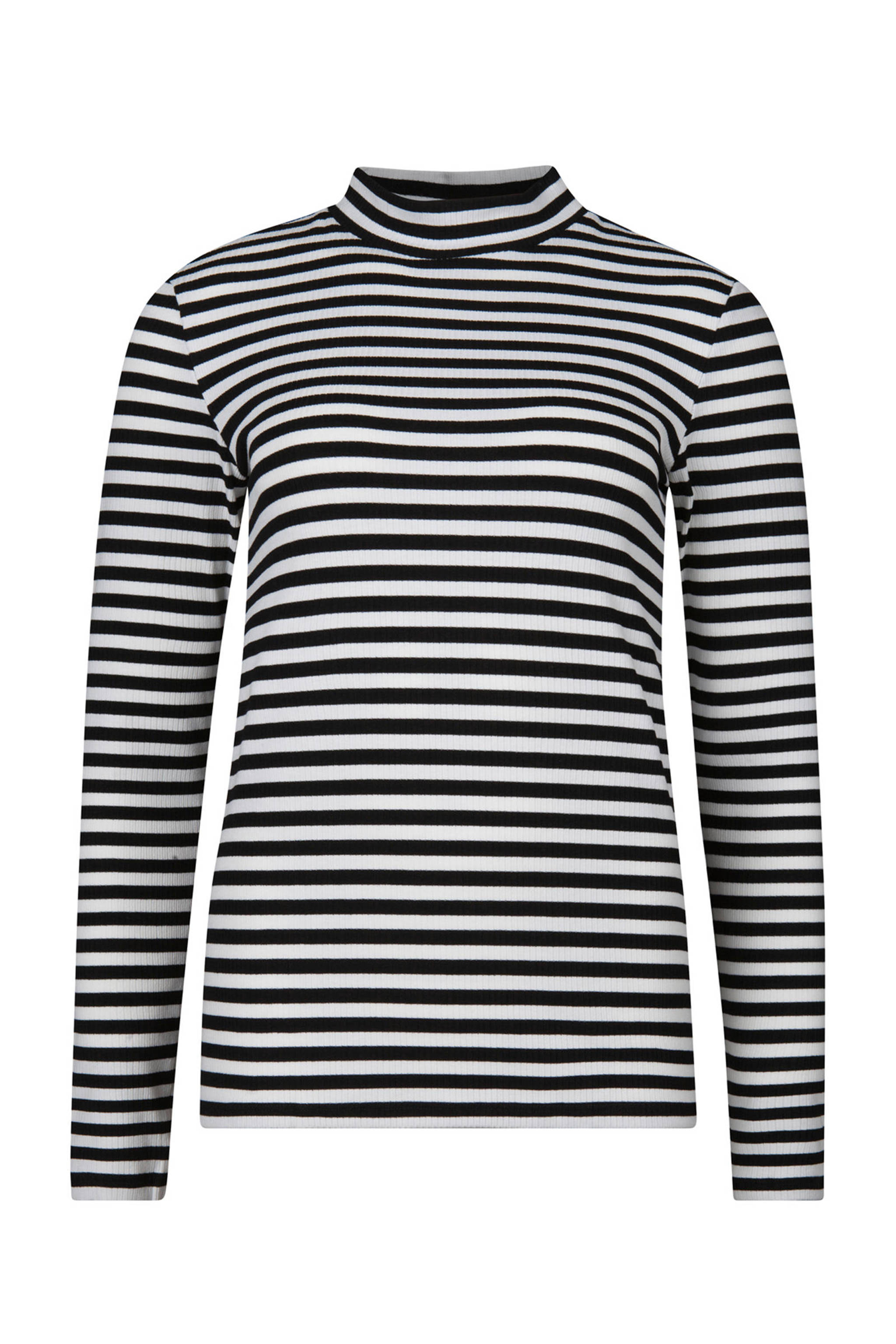 Bedwelming WE Fashion gestreepte top met col zwart/wit | wehkamp @KH52