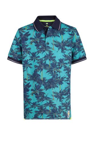 polo met palmbomen blauw