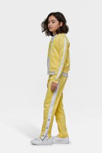 WE Fashion regular fit broek met zijstreep geel, Geel