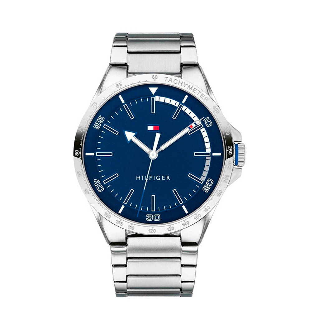 Tommy Hilfiger horloge TH1791524, Blauw/zilverkleurig