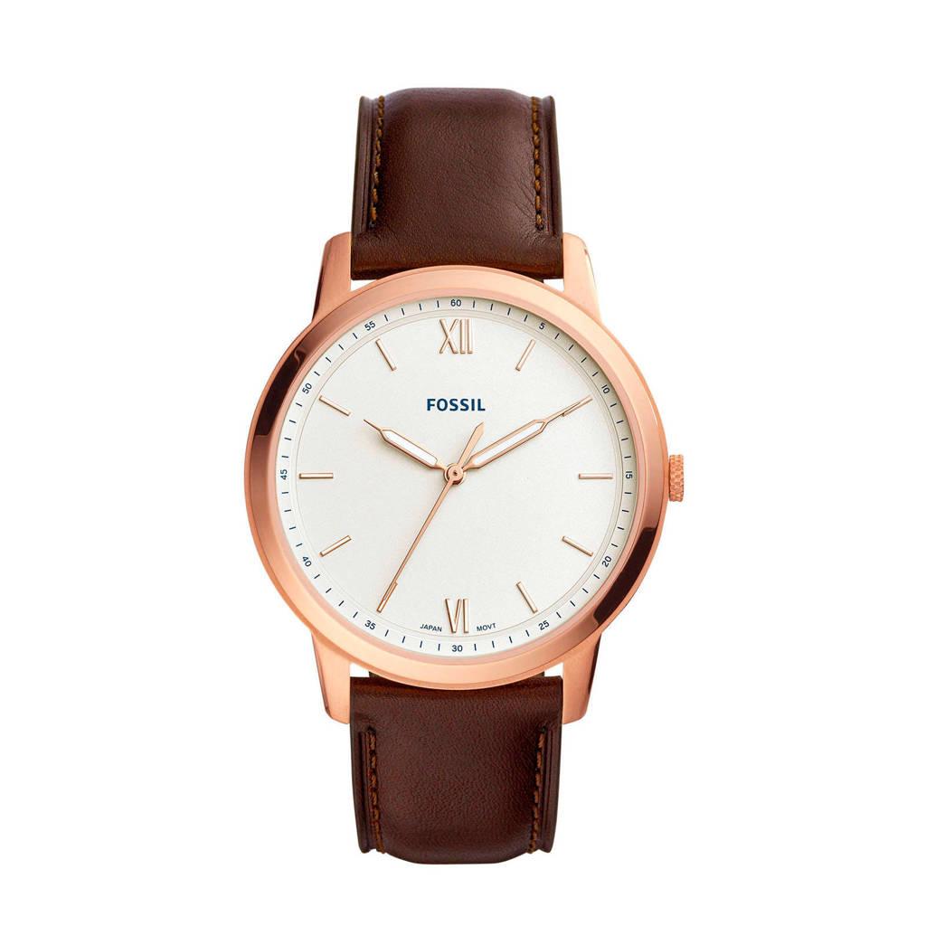 Fossil horloge The Minimalist FS5463, Rosekleurig