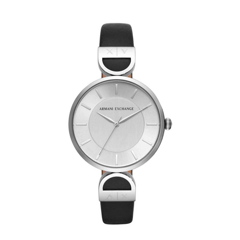 Armani Exchange Brooke Dames Horloge AX5323, Zwart/zilver