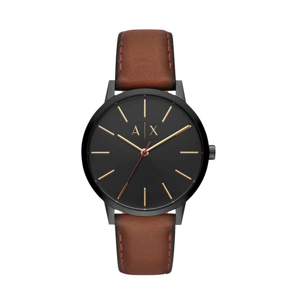 Armani Exchange horloge Cayde AX2706, Bruin/zwart