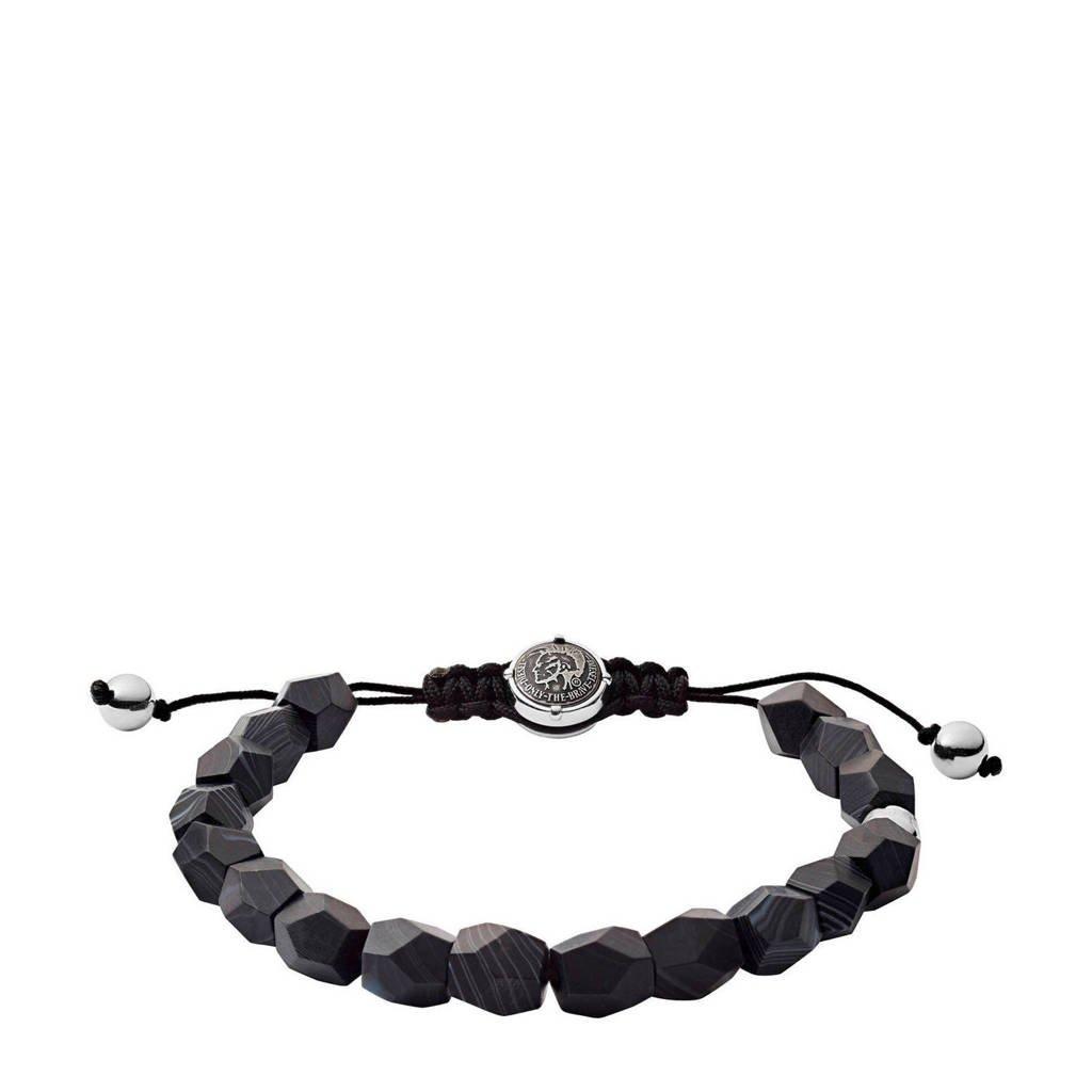 Diesel heren armband Beads DX1134040, Zwart