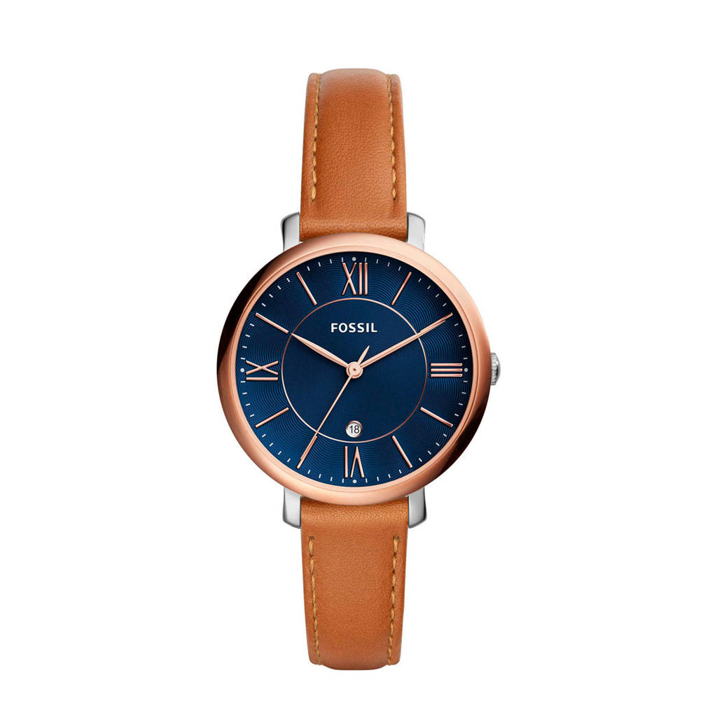 Fossil horloge Jacqueline ES4274, Goudkleurig/zilver