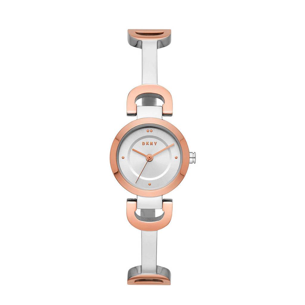 DKNY City Link Dames Horloge NY2749, Zilver/Rose