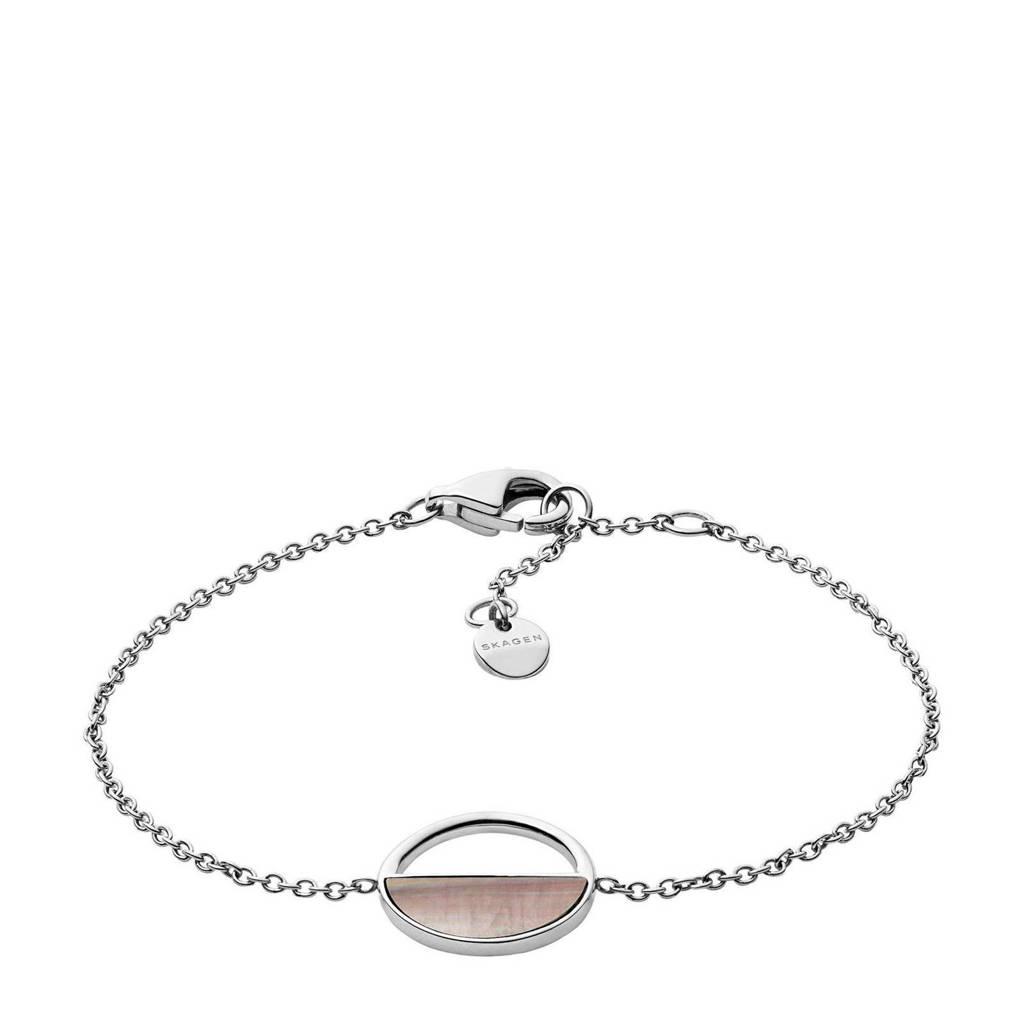 Skagen armband SKJ1121040, Zilver/grijs